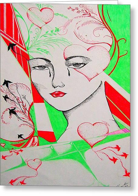 Woman's Love Greeting Card by Dwayne  Hamilton