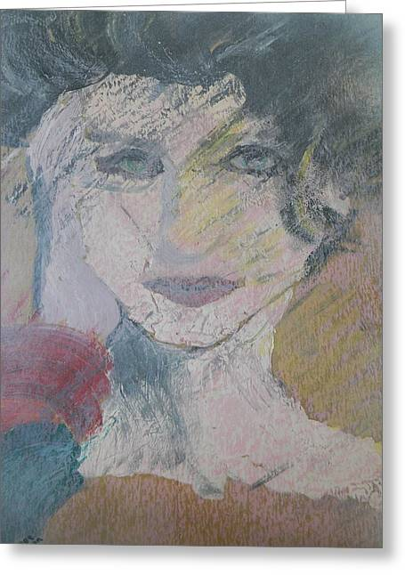 Woman's Portrait - Untitled Greeting Card