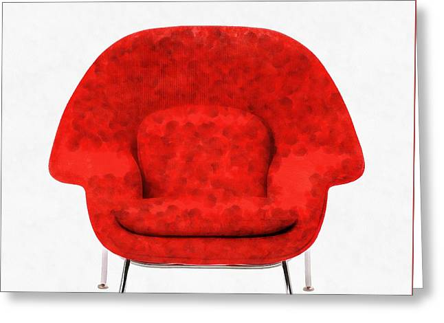 Womb Chair Mid Century Modern Greeting Card