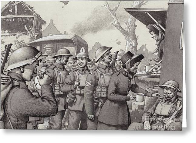 Women From The Salvation Army During The Great War Greeting Card by Pat Nicolle