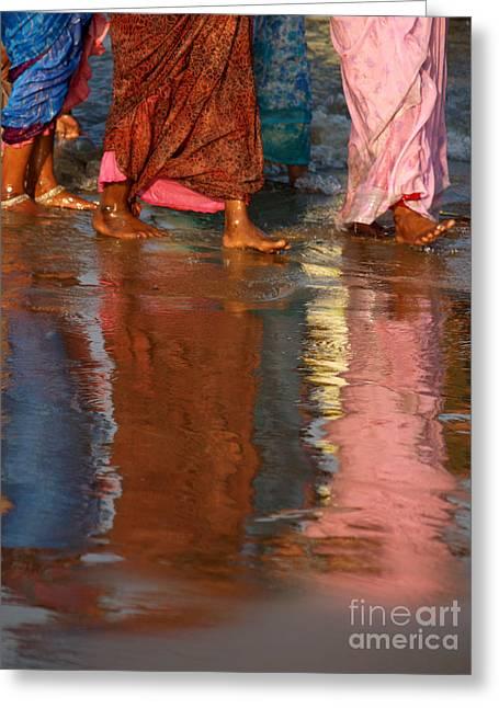 Women In Saris Greeting Card