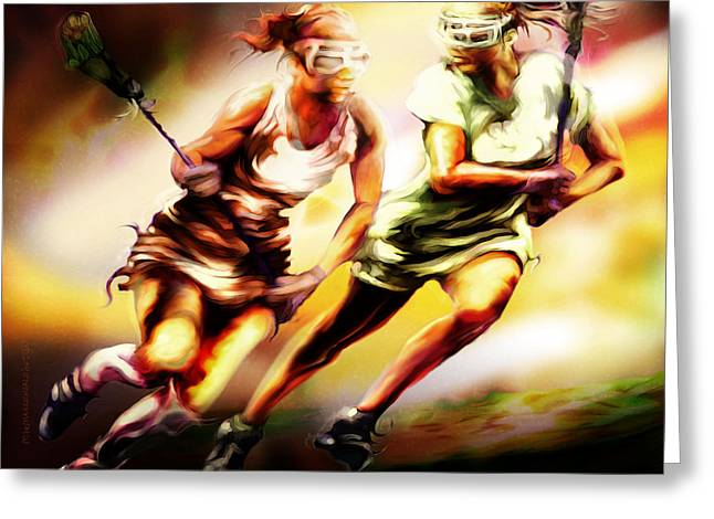 Women In Sports - Lacrosse Greeting Card