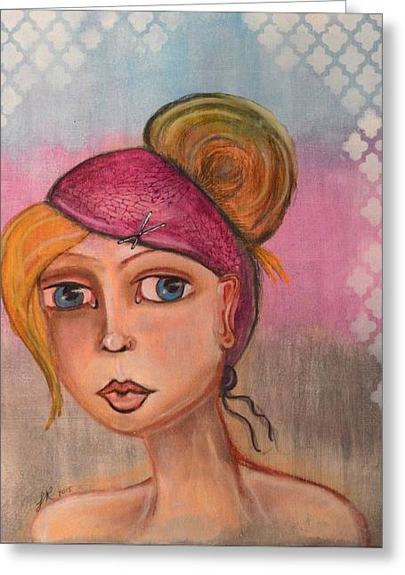 Women Series 1 Greeting Card by Lindy Powell