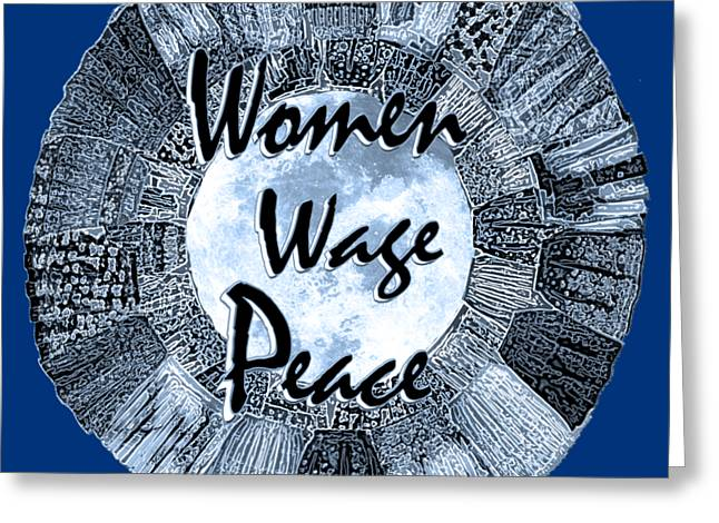 Women Wage Peace Blue Greeting Card