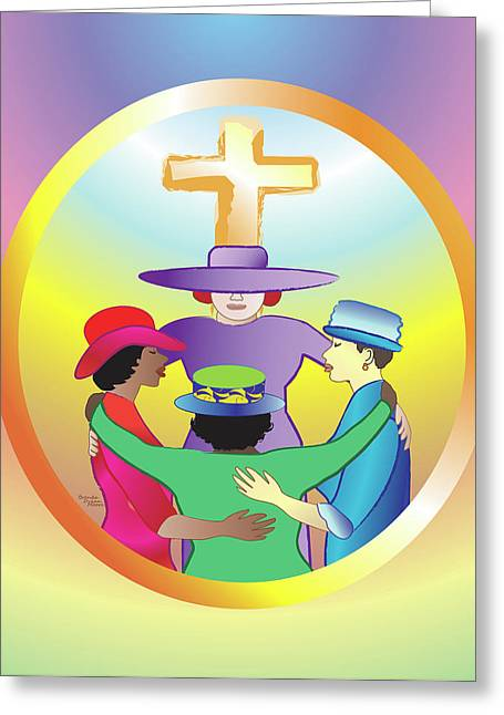 Women's Circle Of Faith Greeting Card