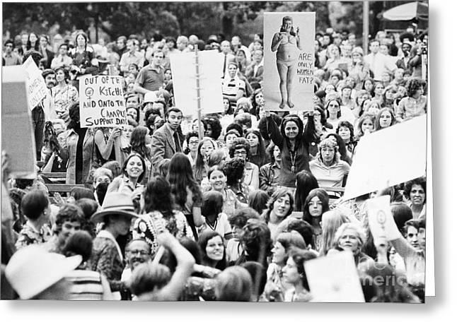 Womens Lib, 1971 Greeting Card