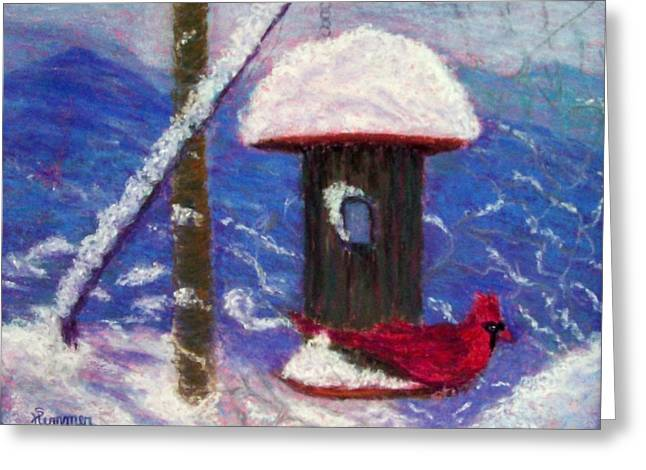 Winter Scene Pastels Greeting Cards - Wonder of Winter Greeting Card by Sandy Hemmer