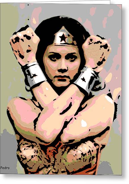 Wonder Woman Greeting Card by George Pedro