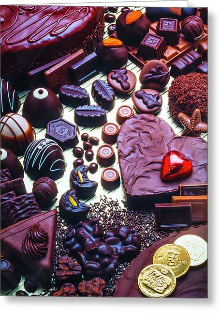 Wonderful Assortment Of Chocolate Greeting Card