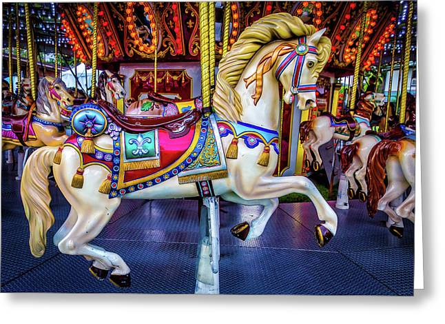 Wonderful Carrousel Horse Ride Greeting Card