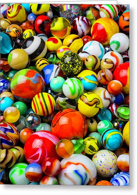 Wonderful Colored Marbles Greeting Card by Garry Gay