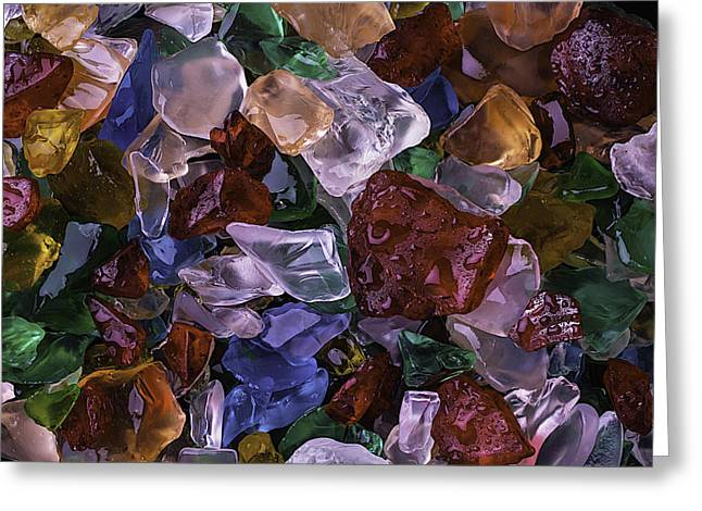 Wonderful Colored Sea Glass Greeting Card by Garry Gay