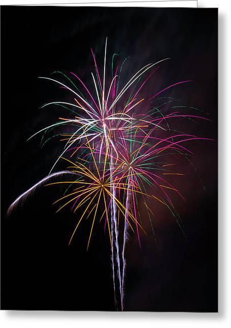 Wonderful Fireworks Greeting Card by Garry Gay