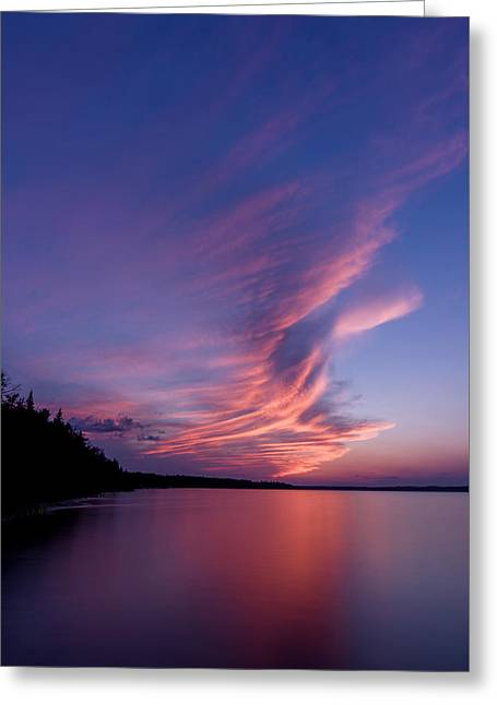 Greeting Card featuring the photograph Wonderful Skeleton Lake Sunset by Darcy Michaelchuk