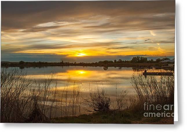 Wonderful Sunset Greeting Card by Robert Bales