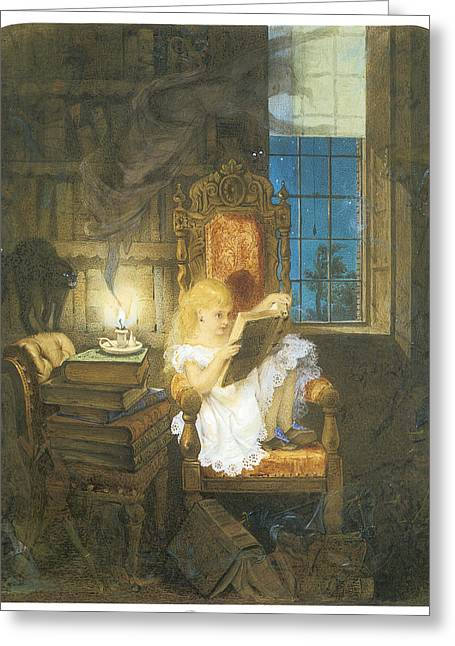 Candle Lit Paintings Greeting Cards - Wonderland Greeting Card by Adelaide Claxton