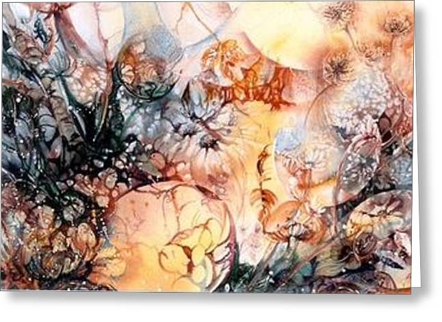 Moonshadow Greeting Cards - Wonderland by night Greeting Card by Estelle Hartley