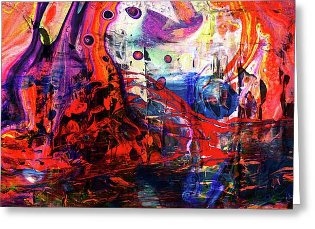 Wonderland - Colorful Abstract Art Painting Greeting Card