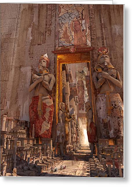 Wonders Door To The Luxor Greeting Card