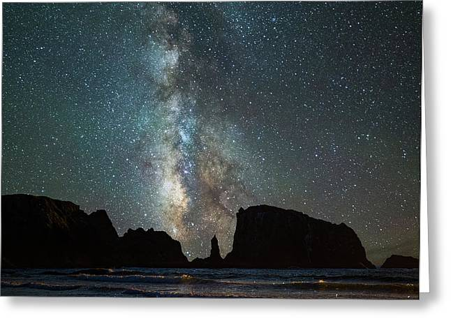 Wonders Of The Night Greeting Card by Darren White