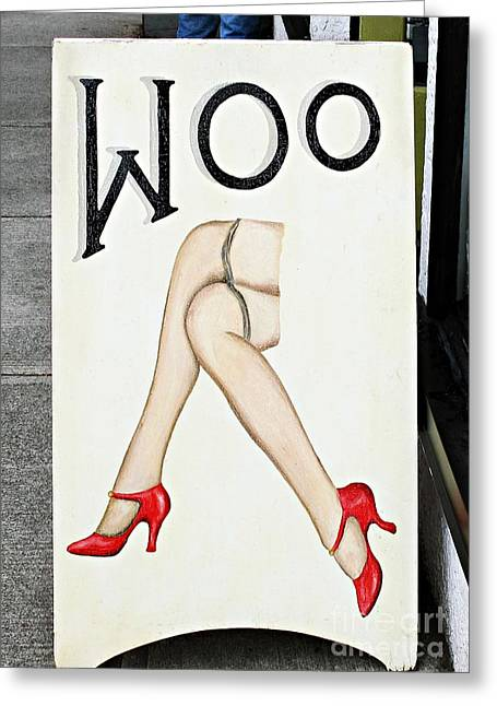Woo Greeting Card by Ethna Gillespie