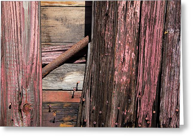 Greeting Card featuring the photograph Wood And Rod by Karol Livote
