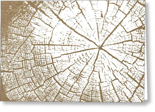 Wood And White- Art By Linda Woods Greeting Card