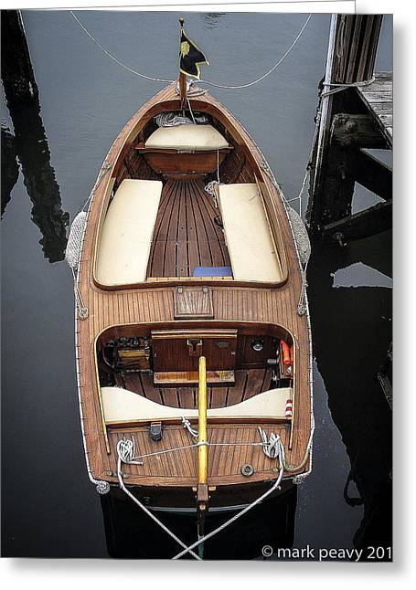 Wood Boat Nantucket Greeting Card
