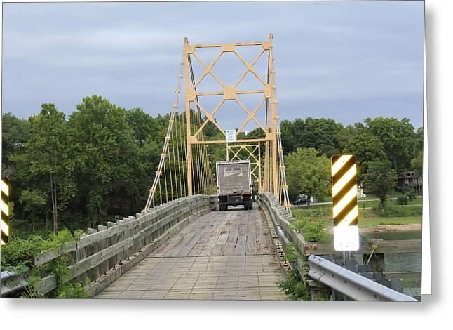 Wood Bridge Greeting Card by John Adams