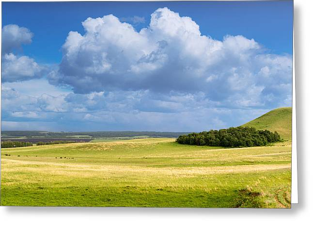 Wood Copse On A Hill Greeting Card