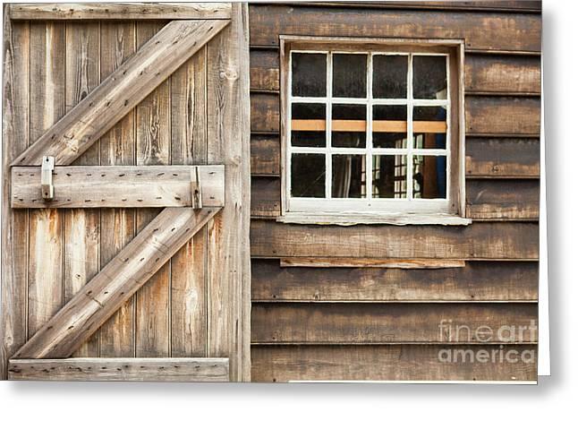 Wood Door And Window Greeting Card