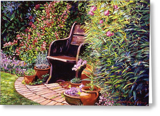 Wood Garden Chair Greeting Card