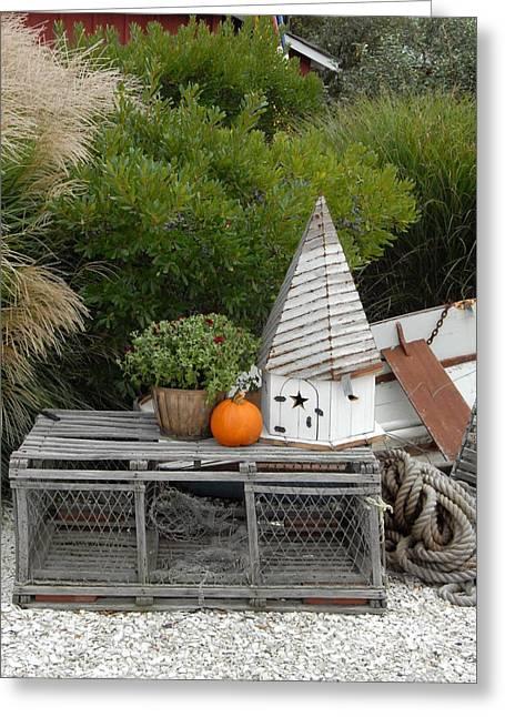 Wood Lobster Traps Greeting Card by Joyce StJames