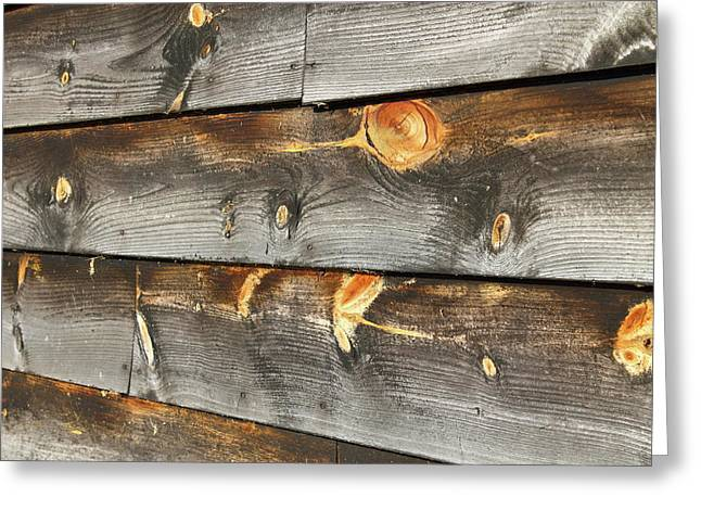 Wood Planks 2 Greeting Card by Frank Romeo