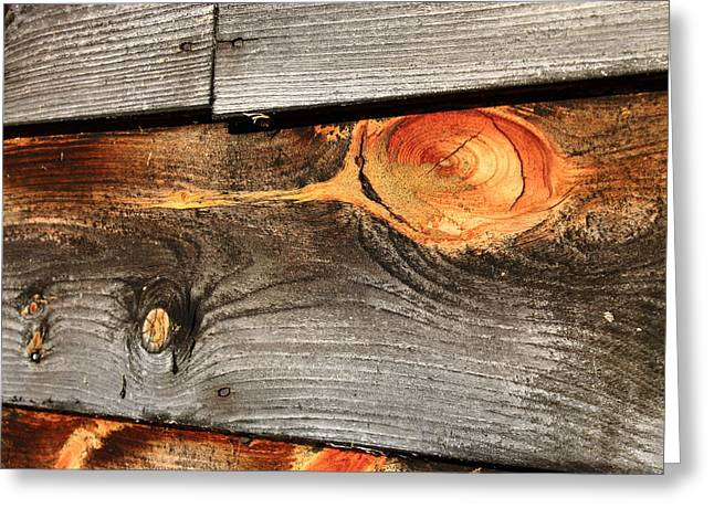 Wood Planks Greeting Card by Frank Romeo