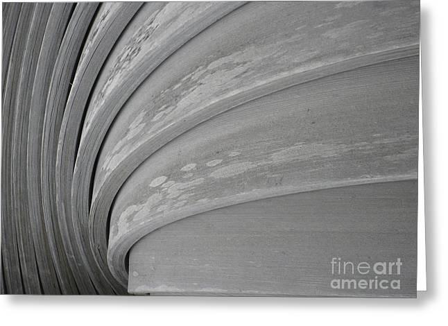 Wood Swirl Greeting Card by Karen Sydney