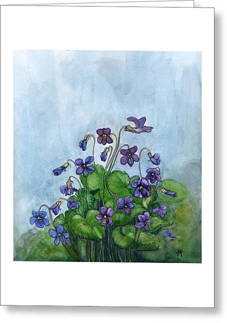 Wood Violets Greeting Card