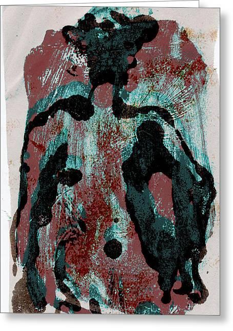 Woodblock 6 Greeting Card by Noredin Morgan