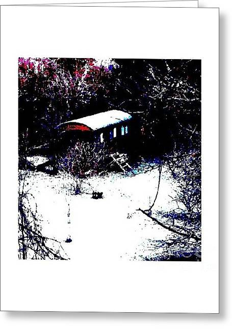 Old Railway Cabin Greeting Card by Maria Joy