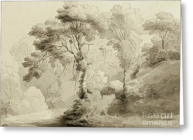Wooded Landscape Greeting Card by Francis Towne