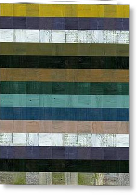 Wooden Abstract Xl Greeting Card by Michelle Calkins