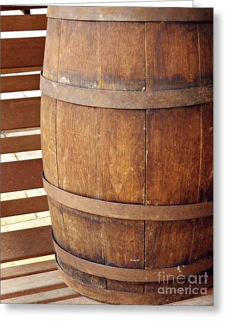 Wooden Barrel Greeting Card