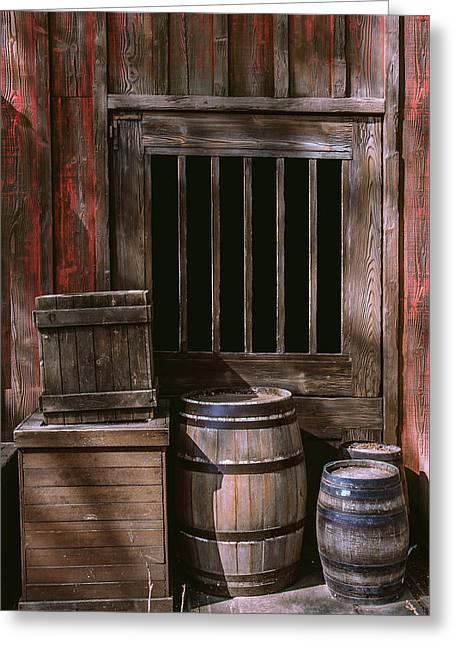 Wooden Barrels Greeting Card