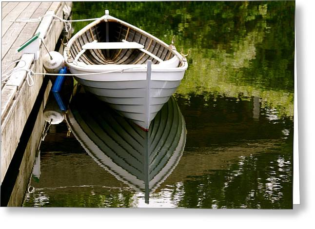 Wooden Boat Greeting Card by Sonja Anderson