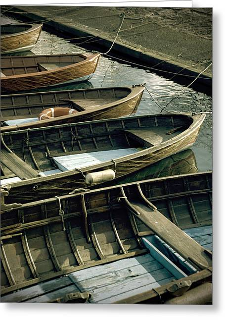Wooden Boats Greeting Card by Joana Kruse