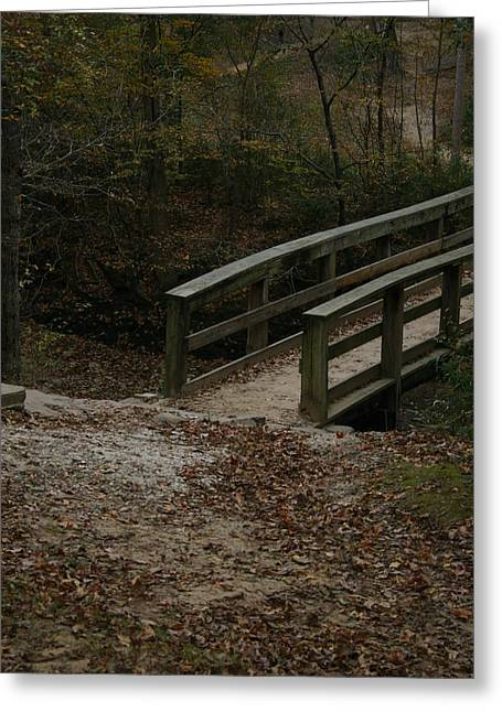 Greeting Card featuring the photograph Wooden Bridge by Kim Henderson