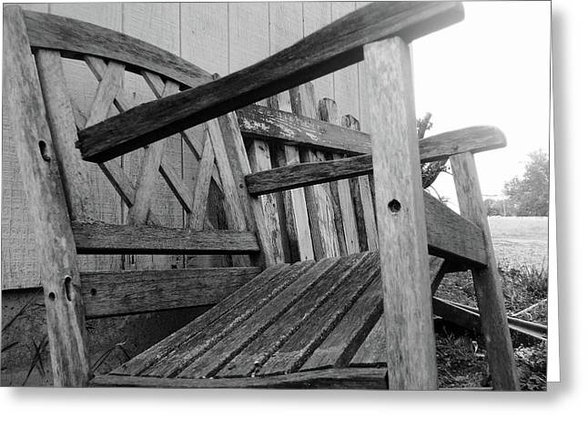 Wooden Chair Greeting Card by Ali Dover