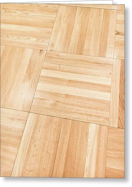 Wooden Floor Panels Greeting Card