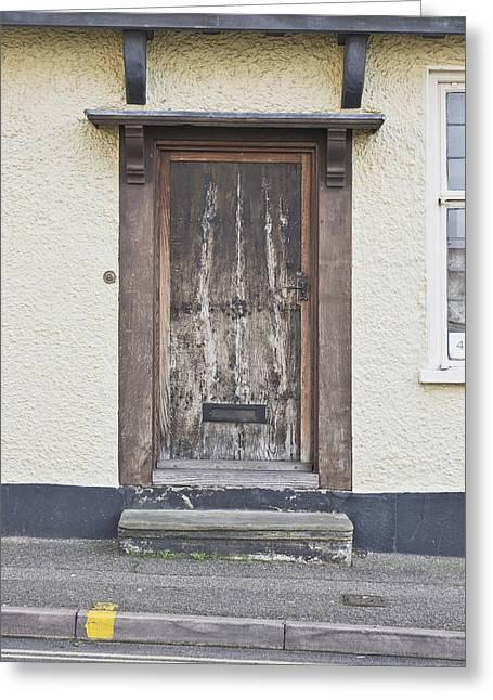Wooden Front Door Greeting Card