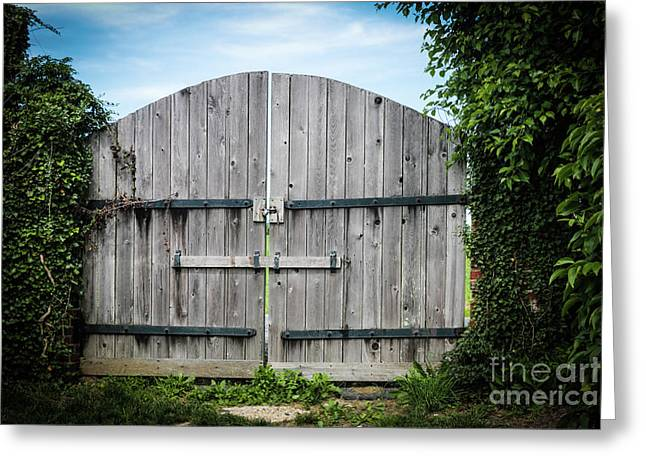 Wooden Gate In Northern Maryland Greeting Card